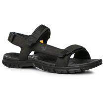 Herren Schuhe Sandalen, Textil, braun