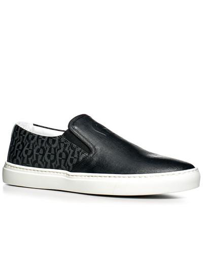 Aigner Herren Schuhe Slip Ons, Leder, gemustert