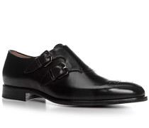 Herren Schuhe Doppelmonkstraps Kalbleder schwarz