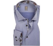 Hemd Custom Fit Baumwolle  meliert