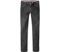 Herren Jeans Regular Fit Baumwolle schwarz
