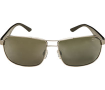 Herren Brillen Sonnenbrille Metall-Kunststoff grau-grün