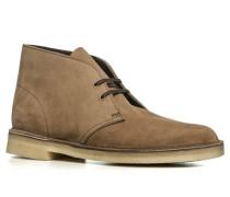 Herren Schuhe Desert Boots, Veloursleder, beige