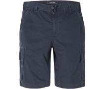 Herren Hose Cargo-Bermudas Baumwolle dunkelblau