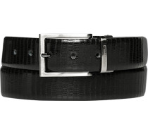 Herren Gürtel schwarz-dunkelbraun, Breite ca. 3,5 cm