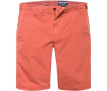 Herren Hose Shorts Baumwolle orange
