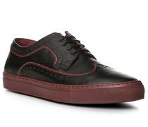 Herren Schuhe Sneaker, Kalbleder, bordeaux rot