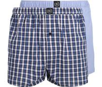 Herren Unterwäsche Boxershorts, Baumwolle, blau kariert