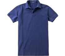 Herren Polo-Shirt Baumwoll-Piqué dunkelblau
