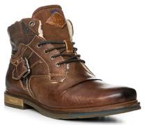 Herren Schuhe Boots, Leder warmgefüttert, mittelbraun