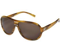 Herren Brillen Sonnenbrille Kunststoff bernstein gemustert
