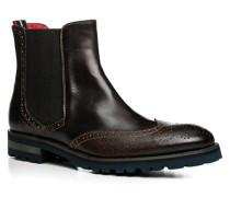 Herren Schuhe Chelsea Boots Leder moca braun,rot