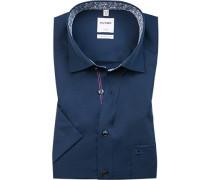 Herren Hemd, Comfort Fit, Popeline, navy blau