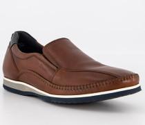 Schuhe Slipper Kalbleder cognac