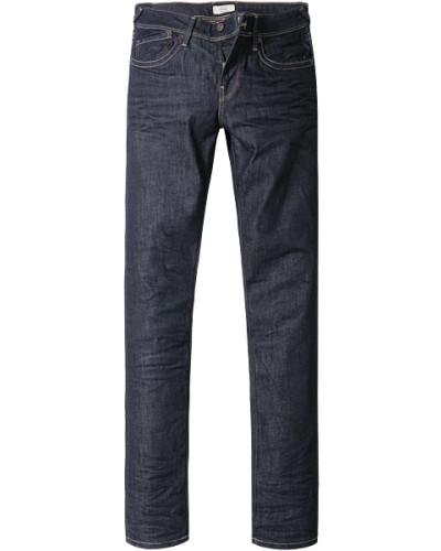 Herren Jeans, Slim Fit, Baumwoll-Stretch, dunkelblau