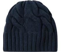 Herren   LONDON Mütze Wolle-Kaschmir navy blau