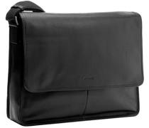 Herren   Messenger Bag Leder schwarz