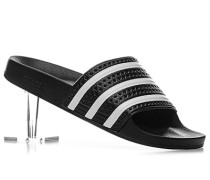 Herren Schuhe Sandalen Synthetik schwarz