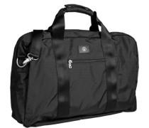Herren Kombi-Reisetasche, Microfaser, schwarz