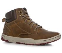 Herren Schuhe Sneaker, Leder, cappuccino braun