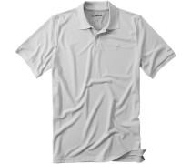 Herren Polo-Shirt Microfaser-Piqué Coolmax® hellgrau