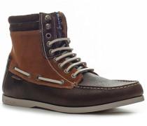 Schuhe Schnürstiefeletten, Kalbvelours