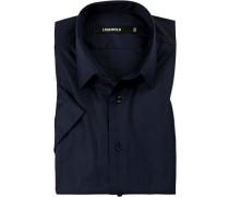 Herren Hemd, Baumwolle, dunkelblau