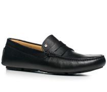 Herren Schuhe Mokassin Kalbleder schwarz