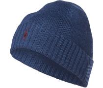 Herren Mütze, Wolle, blau