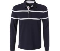 Herren Rugby-Shirt, Baumwolle, navy blau