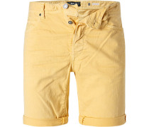 Jeansshorts, Tapered Fit, Baumwoll-Stretch