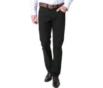 Herren Jeans, Regular Fit, Baumwoll-Stretch, schwarz