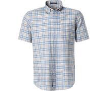 Kurzarmhemd, Regular Fit, Leinen-Baumwolle