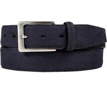 Herren Gürtel marineblau, Breite ca. 3,5 cm