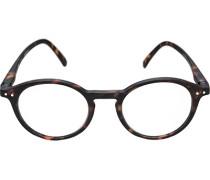 Herren Brillen Lesebrille D, Kunststoff, schwarz meliert