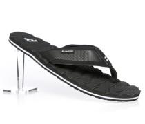 Herren Schuhe Zehensandalen Textil schwarz