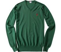 Herren Pullover, Baumwolle, grün