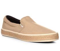 Herren Schuhe Slip Ons, Textil, beige