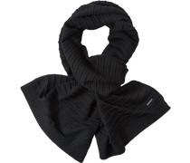 Herren Schal, Wolle, schwarz