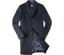 Herren Mantel Woll-Mix nachtblau