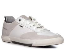 Schuhe Sneaker Veloursleder -hellgrau