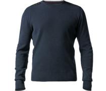 Herren Pullover Baumwoll-Mix dunkelblau