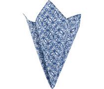 Herren Accessoires Einstecktuch, Baumwolle, blau gemustert