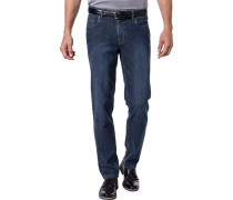 Herren Jeans Kid, Contemporary Fit, Baumwoll-Stretch, dunkelblau