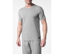 Herren T-Shirt Baumwoll-Stretch grau meliert