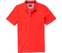 Herren Polo-Shirt Baumwoll-Piqué leucht