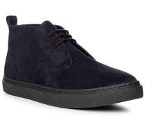 Herren Schuhe Desert-Boots Veloursleder navy blau