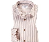 Hemd Contemporary Fit Baumwolle weiß- gestreift