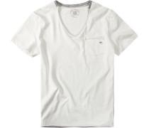Herren T-Shirt, Baumwolljersey, weiß
