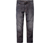 Herren Jeans Regular Fit Baumwolle dunkelblau